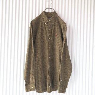 LALPH LAUREN チェックボタンダウンコットンシャツ