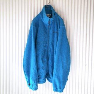 Columbia ロゴ刺繍ジップフリース/ブルー