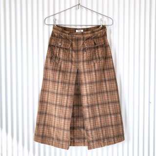 PINK HOUSE コーデュロイチェック はんぱ丈スカート