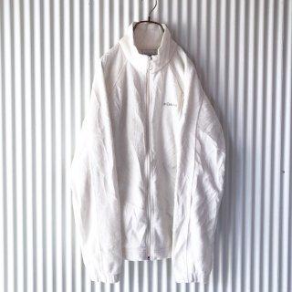 Columbia ロゴ刺繍ジップフリース/ホワイト
