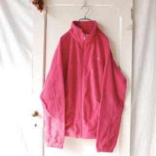 Columbia ロゴ刺繍ジップフリース/ピンク