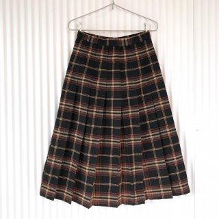 レトロチェック WOOLプリーツスカート