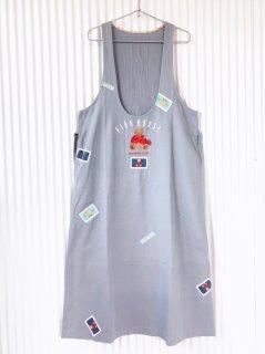 PINK HOUSE くまちゃん刺繍×ワッペン ジャンパースカート