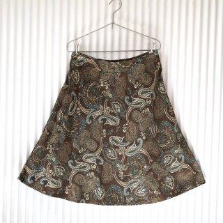 ブラウンペイズリー コーデュロイスカート