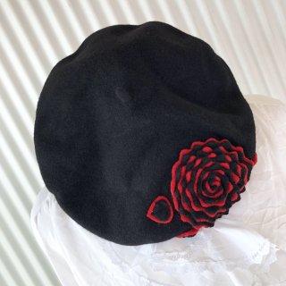 FEZKO 薔薇モチーフフェルトベレー帽