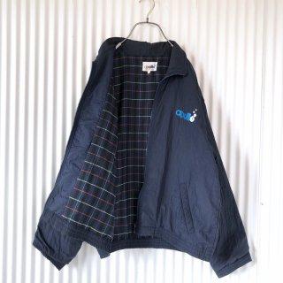 apollo バック刺繍ナイロンジャケット/裏チェック
