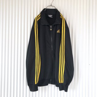 adidas 3ライントラックジャケット/black x yellow