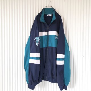 Reebok 刺繍×切り替えトラックジャケット/XL