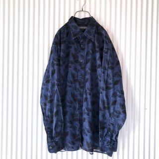 JOHN HENRY リーフ×ペイズリーゆるシャツ/XL