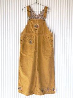 ペアくまちゃん刺繍ジャンパースカート