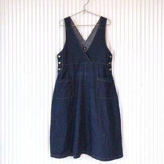 merlot カシュクールデニムジャンパースカート