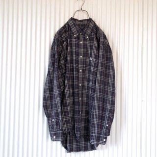 BURBERRY ホース刺繍チェックシャツ