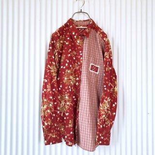 PINK HOUSE 野苺×チェック切り替えシャツ