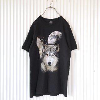 狼と月 ブラックTee