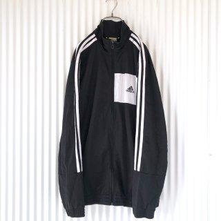 adidas 黒白切り替え3ライントラックジャケット