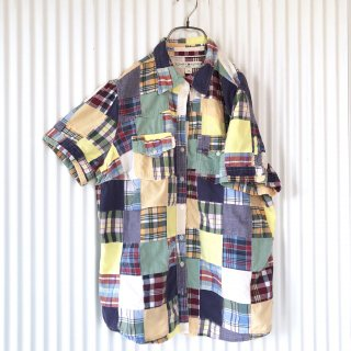 TOMMY HILFIGER パッチワークチェックシャツ