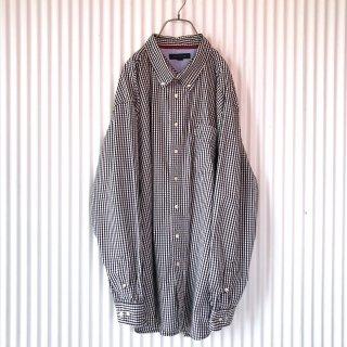 TOMMY HILFIGER ギンガムチェックBIGボタンダウンシャツ
