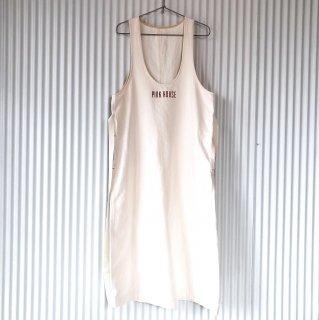 PINK HOUSE シンプルロゴジャンパースカート/しろ