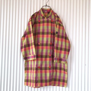 コックコートデザインチェックシャツ