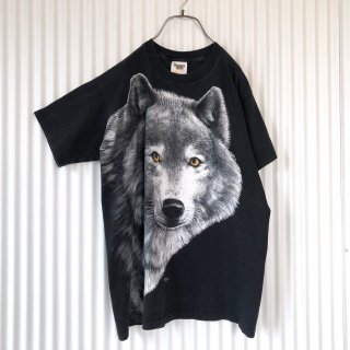 wolf Big face Tee/USA