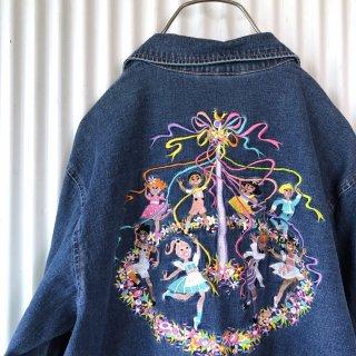 メルヘンチャイルド刺繍デニムシャツ