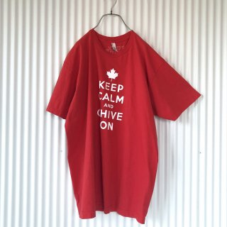 KEEP CALM AND CHIVE ON カナダTee