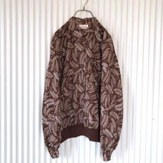チョコレートリーフ総柄 裾リブシャツ