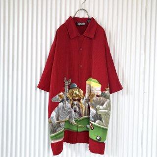 ビリヤードワンちゃんズBIGシャツ/XL