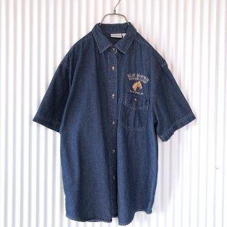 ホース刺繍ダンガリーシャツ