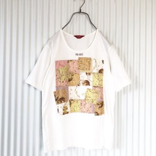 PINK HOUSE 花籠くまちゃんパッチワークTee
