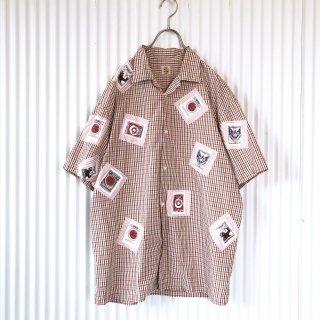 MEN'S KANEKO ISAO(PINK HOUSE) シガレットワッペンシャツ