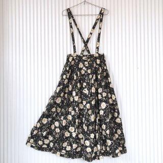 PINK HOUSE マーガレット フロントボタンフレア吊りスカート