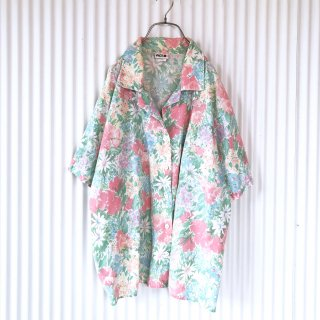 水彩フラワーガーデンシャツ/USA