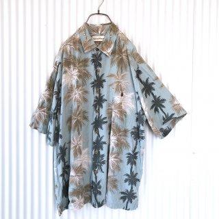 くすみミント椰子レーヨンシャツ