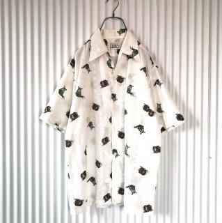 LEAO 刺繍レースアンティークシャツ