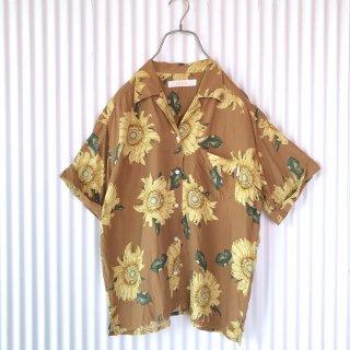 INGEBORG (PINK HOUSE)ブラウンひまわりテロシャツ
