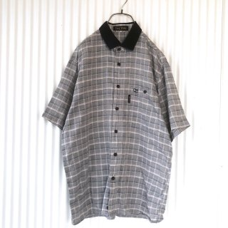 CREDiMi リブ襟チェックシャツ