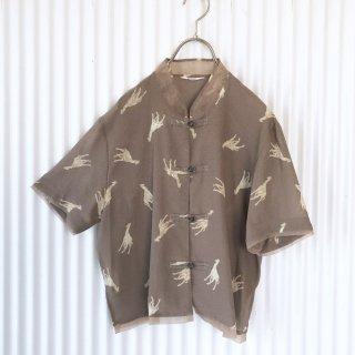 キリン柄シアーチャイナシャツ
