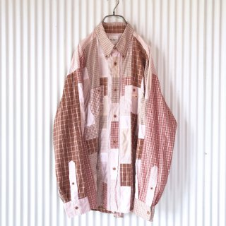 Karl Helmut(PINK HOUSE)チェック×チェック クレイジーパッチワークシャツ