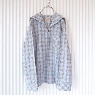 ミルクチェック セーラーシャツ