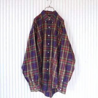 RALPH LAUREN ポロ刺繍チェックB.Dシャツ