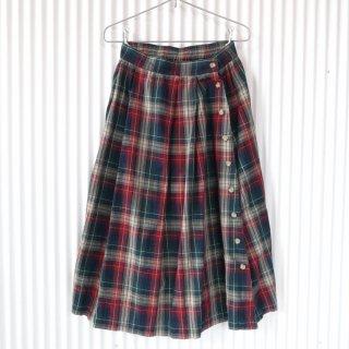 Appleseed's チェックサイドボタンスカート