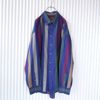マルチブロックストライプB.Dシャツ