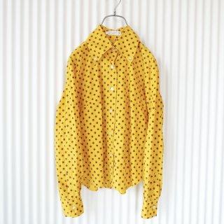 てんとう虫パターンレトロシャツ