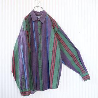 SANTANA マルチストライプポケットシャツ