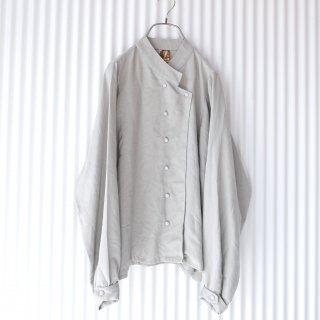 マーブルボタン コックデザインシャツ