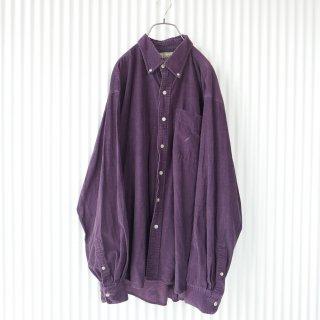 葡萄色コーデュロイ ゆるB.Dシャツ