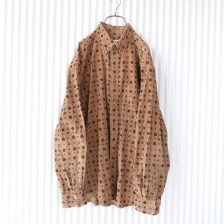 ジオメトリーパターン コーデュロイB.Dシャツ