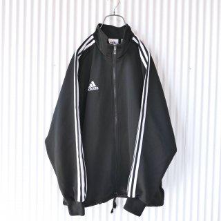 adidas 3ライントラックジャケット/黒×白