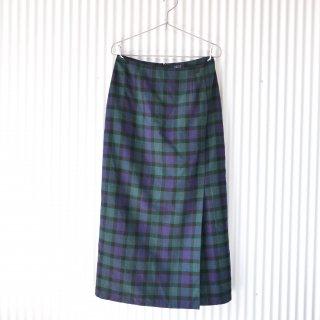 タータンチェック フェイクラップスカート